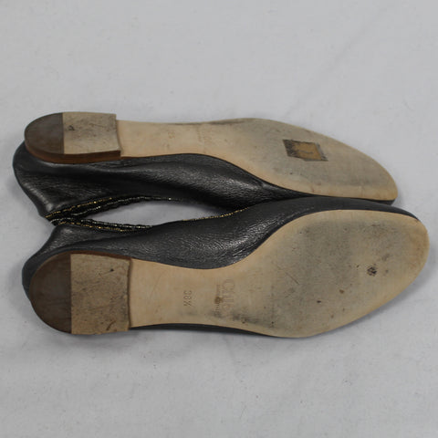 Vera Wang_New Charcoal Wool Sweater with Purple Chiffon Panel_M