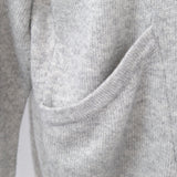Madeleine Thompson_Grey Wool & Cashmere Pocket Sweater_L