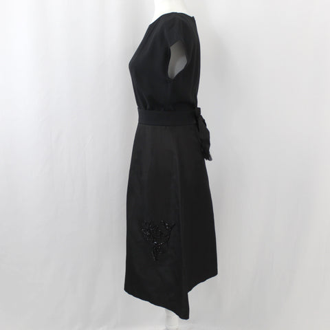 Prada_Black Beaded Skirt Belted Dress_I38