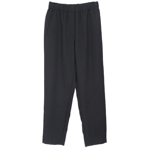 Forte Forte_Black Wool Pull-On Pants _Sz0