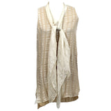 Loup Charmant £720 Soft Blue Silk Frill Front Wrap Maxi Dress M
