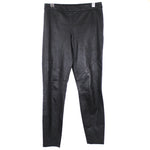 Elie Tahari Black Stretch Lamb Leather Trousers S