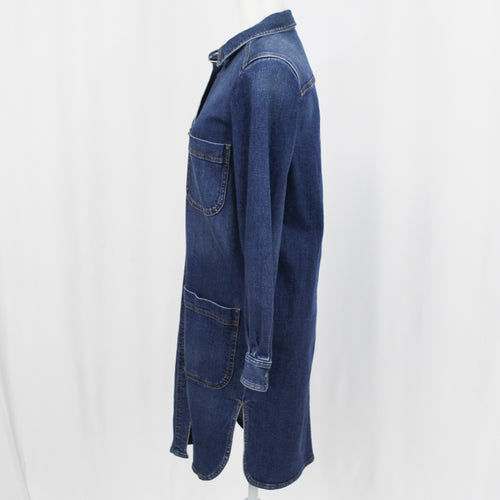 Roland Mouret Charcoal Marl V Neck Classic Origami Dress UK10