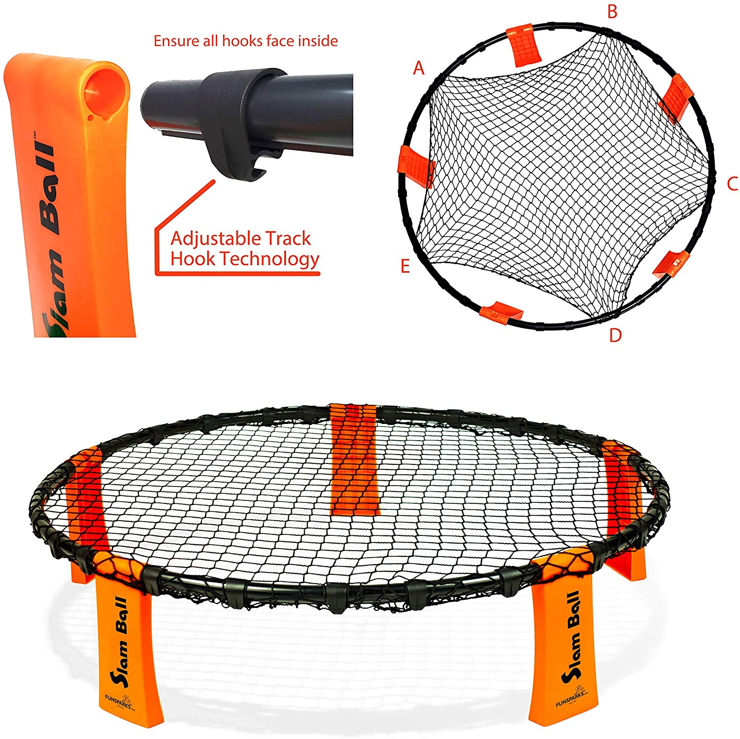 Setting up the net is easy with Slam Ball by Funsparks
