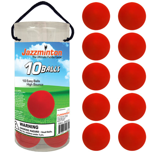 Jazzminton 10 Red Paddleballs