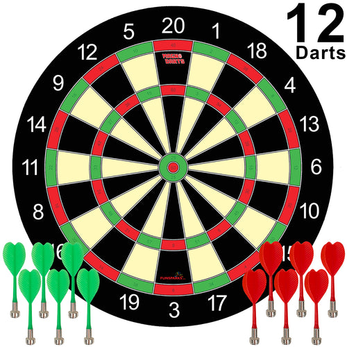 Magnetic Dart Board with 12 darts by Funsparks