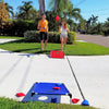 Siblings playing Cornhole Bean Bag game by Funsparks