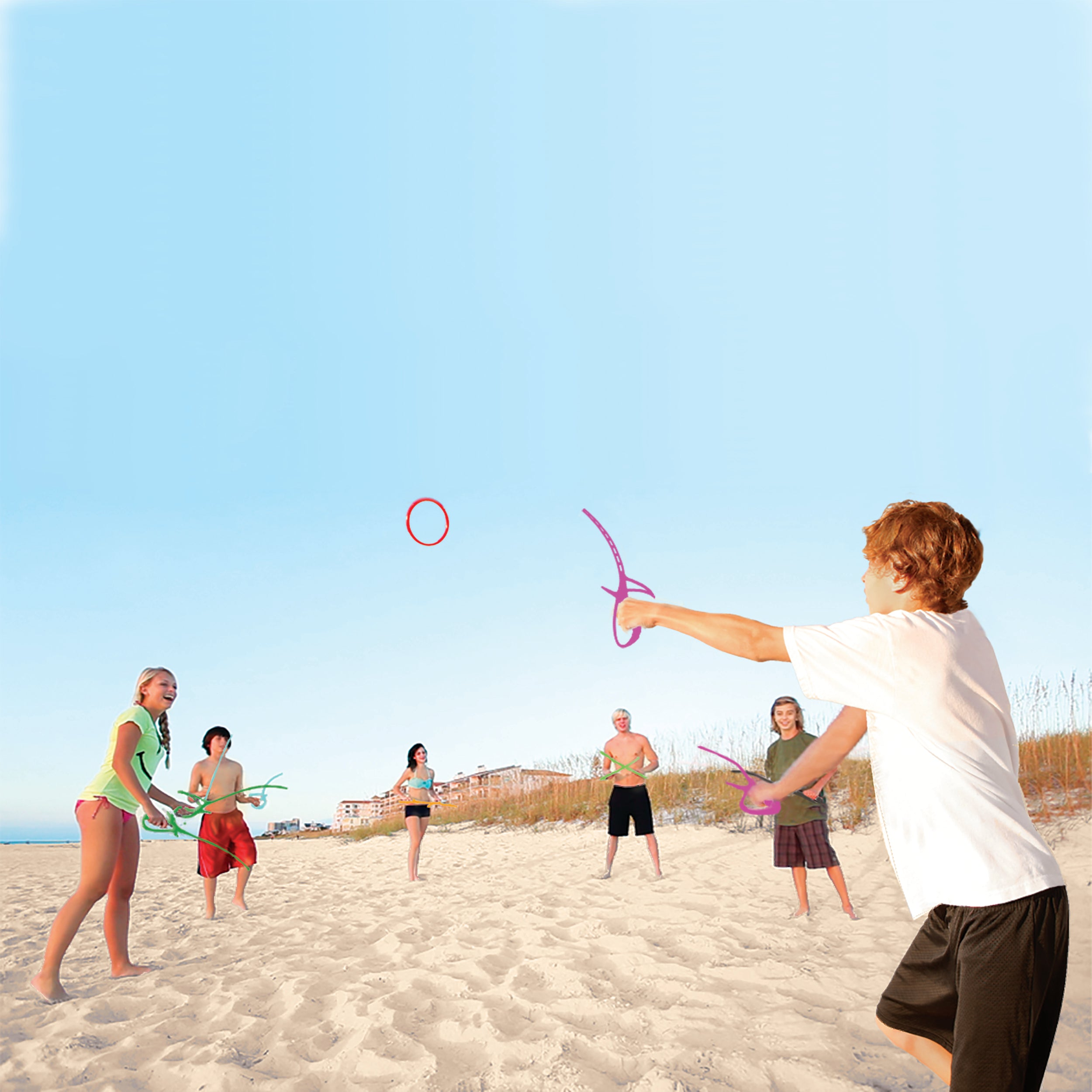 RingStix at the beach is super fun with groups of friends
