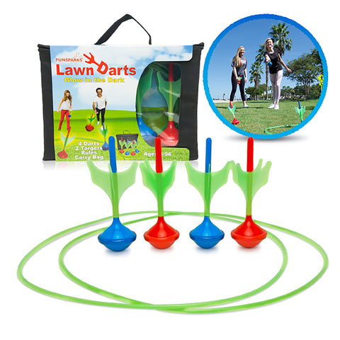 Lawn Darts game with 4 darts and 2 rings by Funsparks