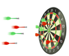 Magnetic Darts being tossed and thrown at Dart Board