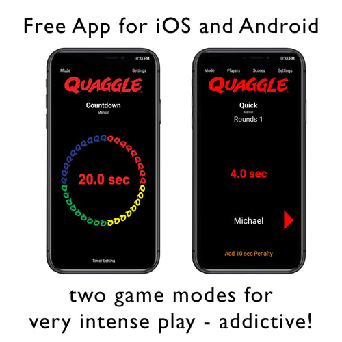 Quaggle mobile app has 2 game modes that are very fun