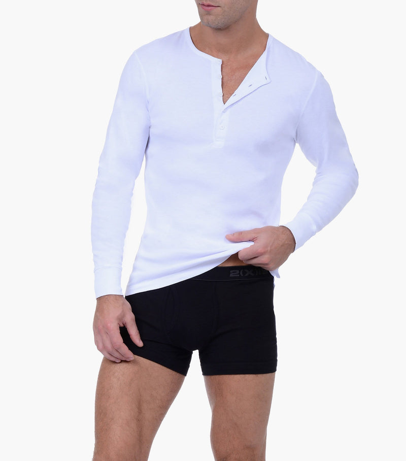 Essential Cotton Long Sleeve Henley