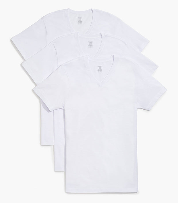 Essential Cotton V-Neck T-Shirt 3-Pack