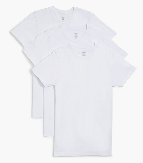 Essential Cotton Crewneck T-Shirt 3-Pack