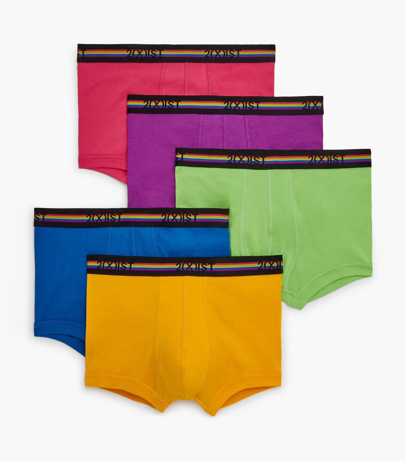 5-Pack 2xist Essential Cotton No-Show Trunks