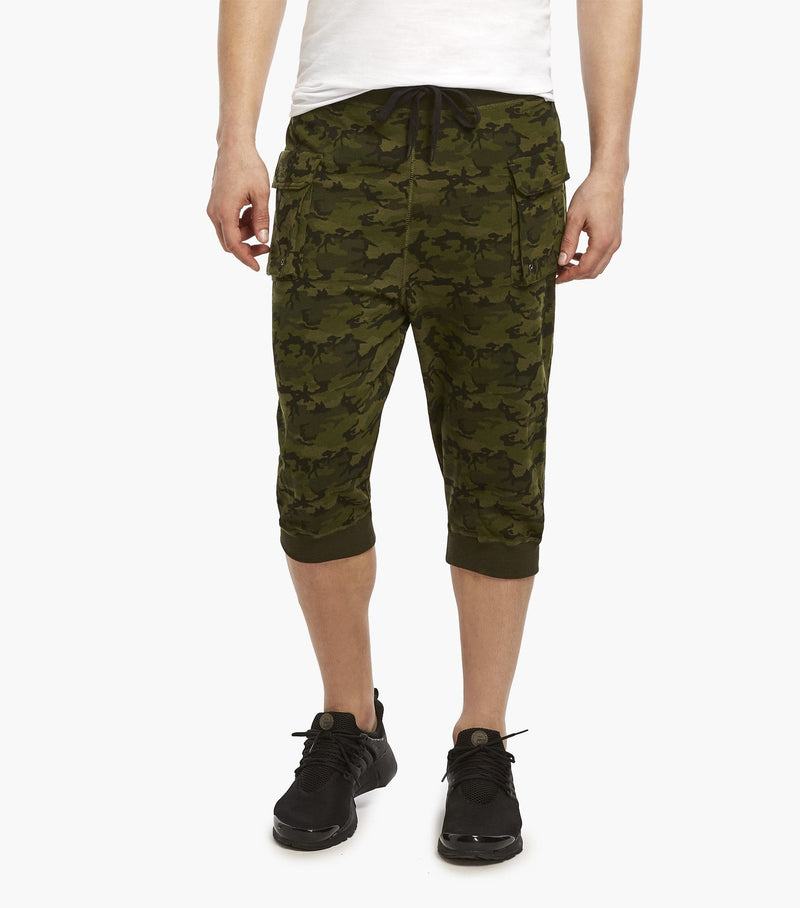 French Terry Cargo Cropped Pant