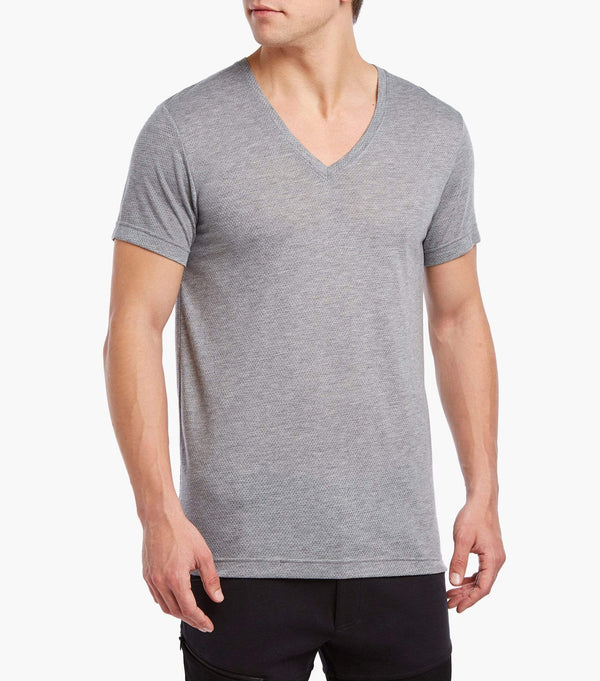 Mesh V-Neck T-Shirt - XL