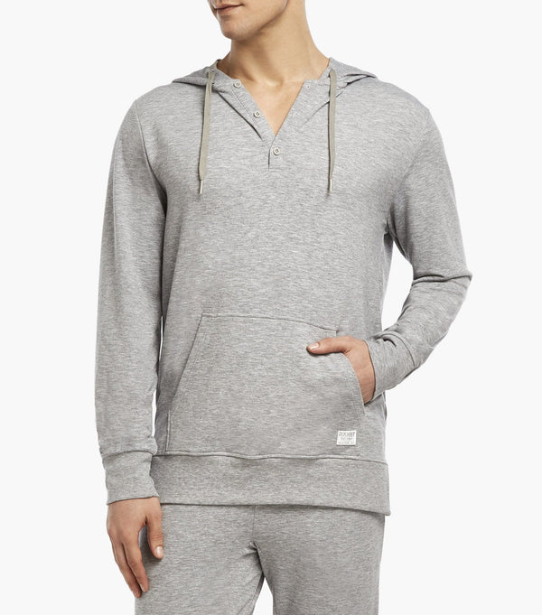 Hooded Henley Sweatshirt