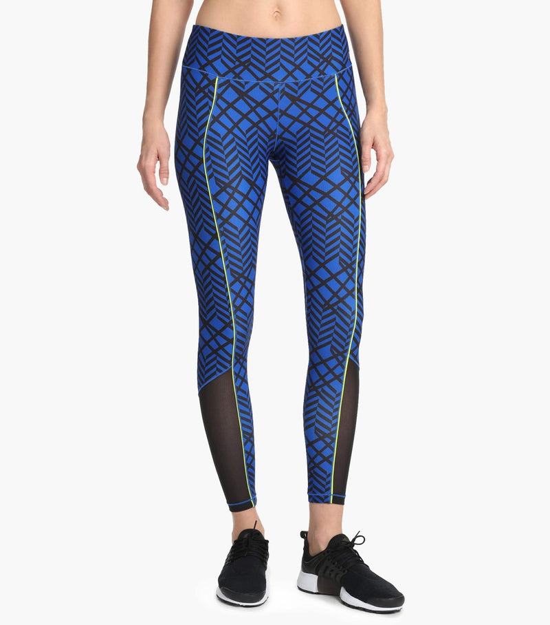 Printed Mesh Panel Legging