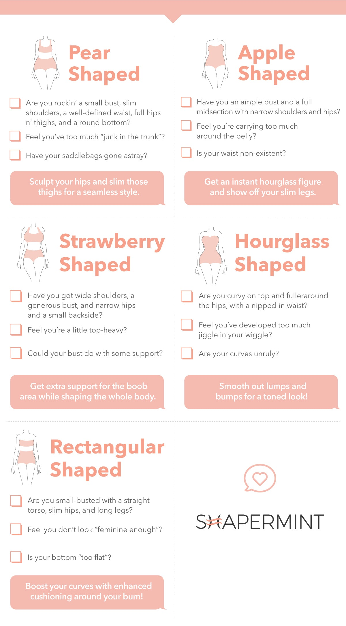 Body Type Checklist for Shapewear