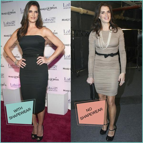 celebrity shapewear secrets Brooke Shields