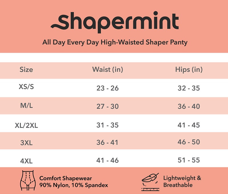 Shaper Panty Sizing Guide