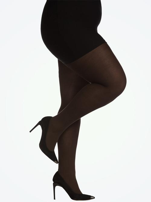 Hanes Curves Opaque Tights with Control Top Hosiery