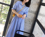 DR9969WH/Blue Stripe XS ready stock