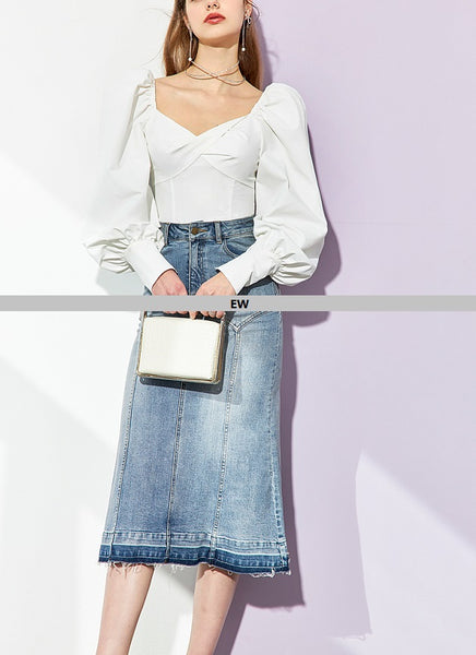 TP82024 Top/Denim Skirt (Pre-order)