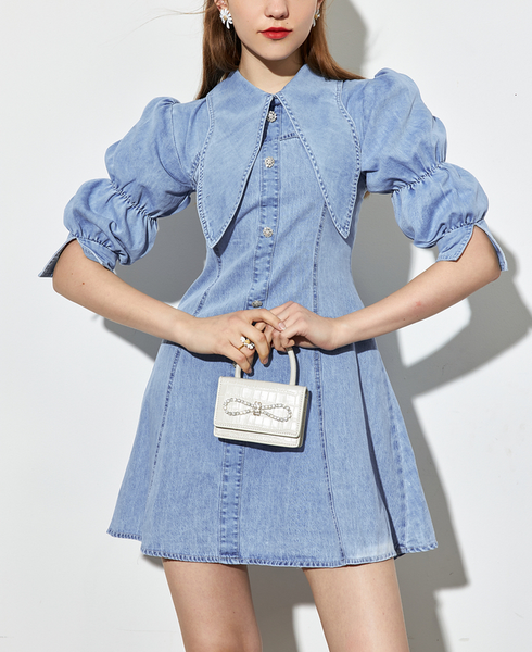 DR82023 Denim Dress/Pre-order