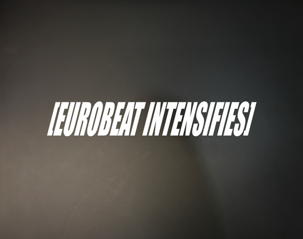 Eurobeat Intensifies - Stickerboiz