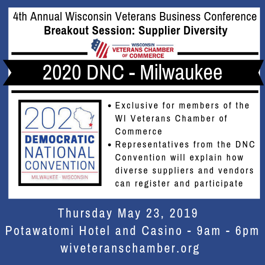 Exclusive Members Only 2020 DNC Milwaukee - Supplier Diversity