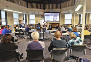 "The Wadsworth Library provided the setting for ""Storytelling: Vietnam Veterans in Literature."""