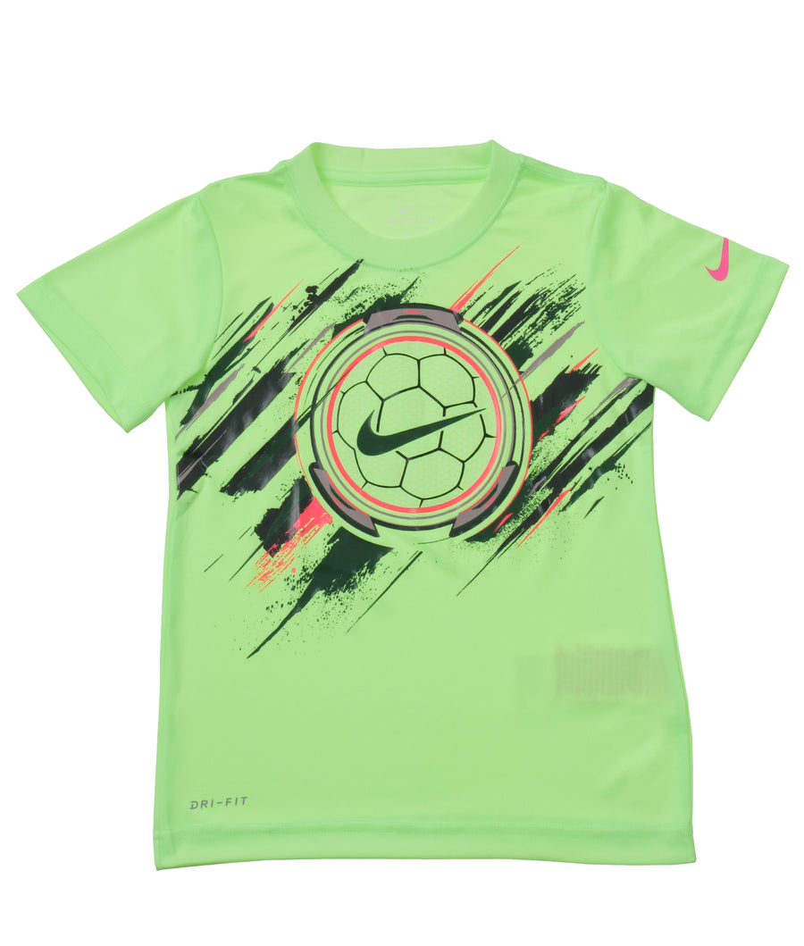 NIKE(ナイキ)  PAINTED TRON SOCCERBALL DRI-FIT S/S  Tシャツ キッズ(104-125㎝)