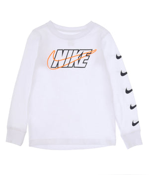 NIKE(ナイキ) OUTLIN NIKE BLOCK SWOSH L/S Tシャツ キッズ(104-125㎝)