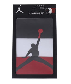 JORDAN(ジョーダン) JHN 3PK JUMPMAN BODYSUIT SET ベビー(62-68㎝)