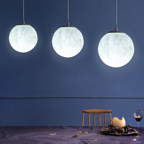 3D Moon Pendant Ceiling Light