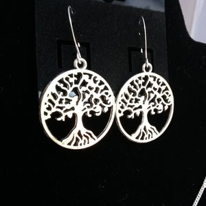 tree of life necklace silver - Mystery Art & Jewelry