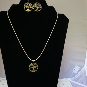 Tree of Life Set brass - Mystery Art & Jewelry