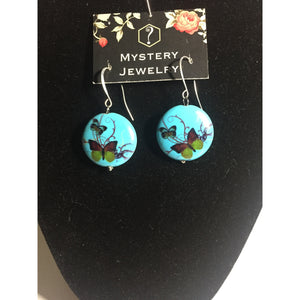Turquoise butterfly earrings - Mystery Art & Jewelry