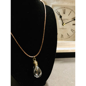 Vintage Light Bulb Charm Necklace - Mystery Art & Jewelry