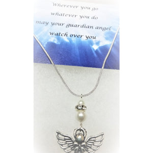 guardian angel necklace - Mystery Art & Jewelry