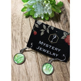 Encaustic Earrings green - Mystery Art & Jewelry