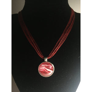 Encaustic Necklace - Mystery Art & Jewelry
