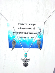 Guardian Angel jewelry set - Mystery Art & Jewelry