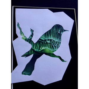 Encaustic wax art bird painting - Mystery Art & Jewelry