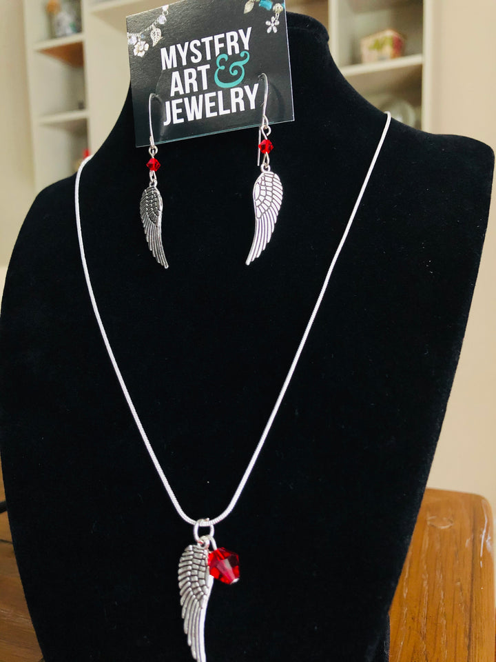 Angel wing jewelry set - Mystery Art & Jewelry