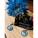 Encaustic Earrings 'blue lagoon ' - Mystery Art & Jewelry