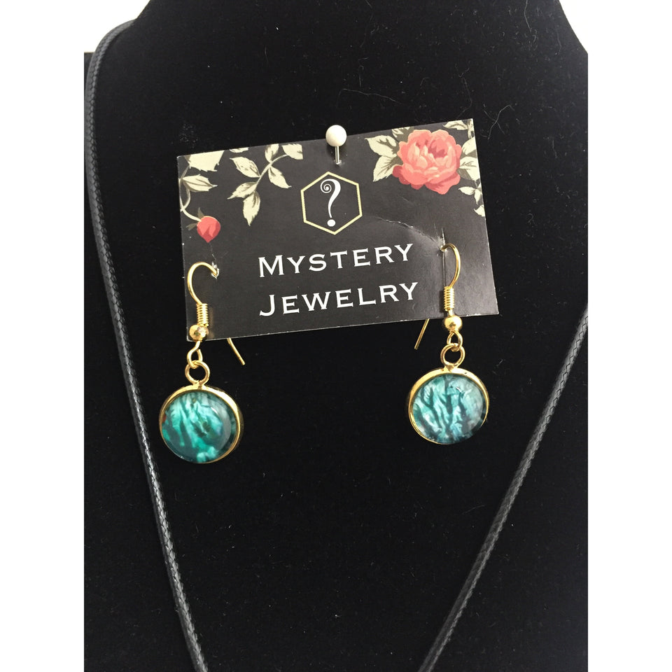 Encaustic Jewelry Set - Mystery Art & Jewelry
