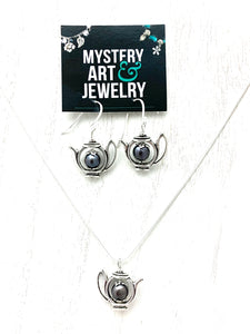 Teapot jewelry set - Mystery Art & Jewelry